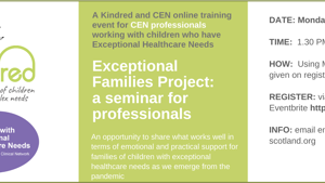 Online seminar for Professionals: The Exceptional Families Project